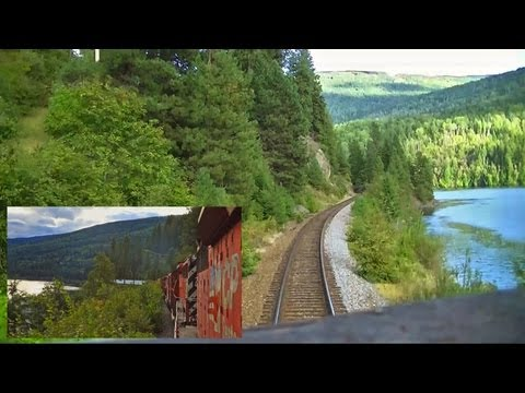 Kootenay Valley Railway (Canadian Pacific) Cabride - Trail to Nelson, BC on an SD40-2