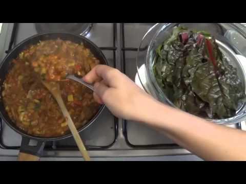 Acelgas rellenas de Cochayuyo y verduras