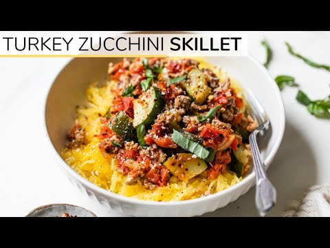 Turkey Zucchini Skillet | Easy Low Carb Dinner Idea