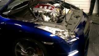 James Nissan GTR first run OCUK Rolling Road Day