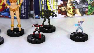 DC Heroclix Superman and the Legion of Superheroes Booster Unboxing.