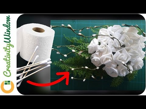 Cotton buds and toilet paper flower cotton buds and toilet paper flower mightylinksfo