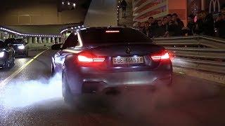 CRAZY Supercar Night in Monaco! BURNOUTS, REVS, ACCELERATIONS!