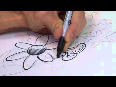 how to draw a bouquet of flowers