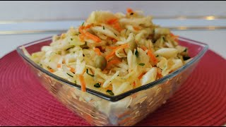 Простой рецепт постного салата на скорую руку. Готовим дома салат для похудения.
