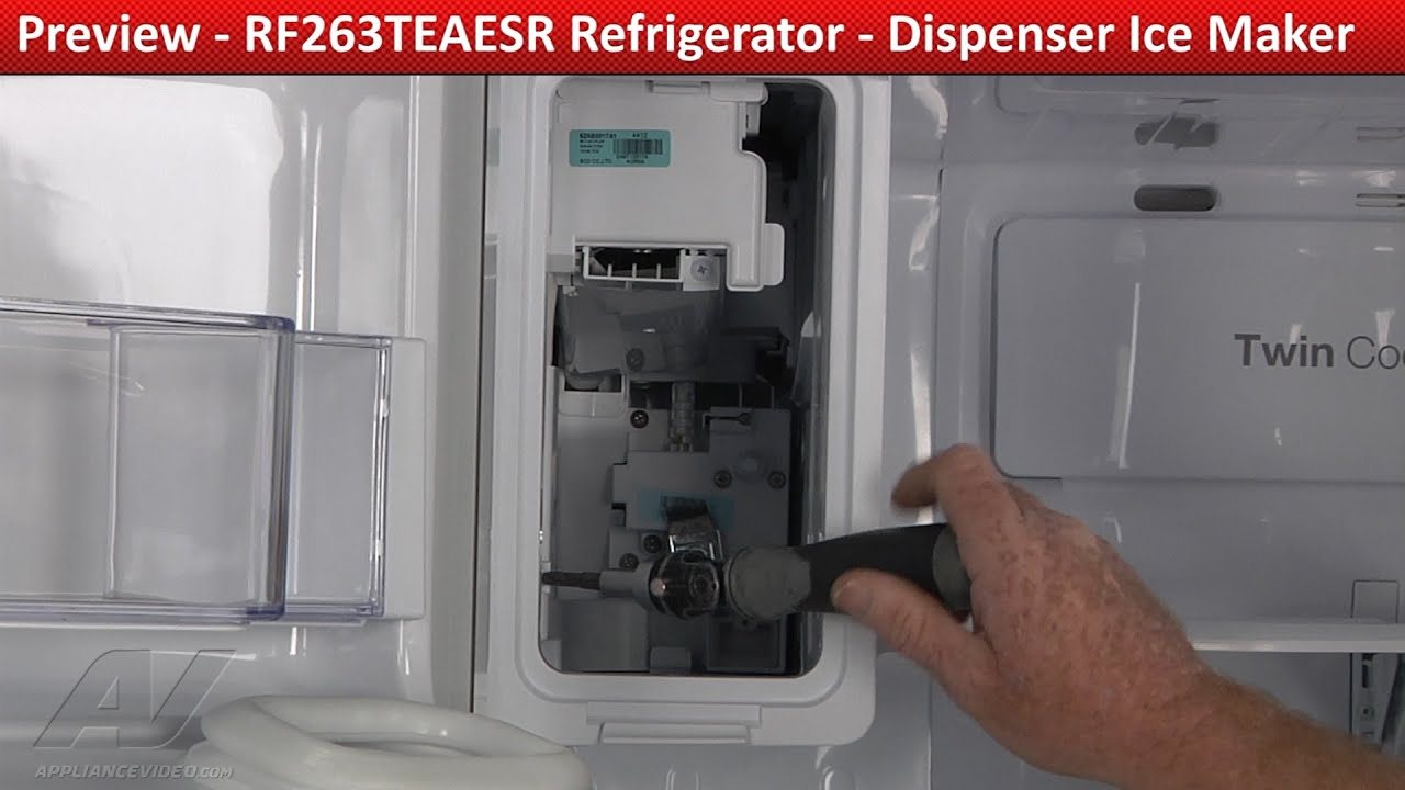 Dispenser Ice Maker Rf263teaesr Samsung Refrigerator