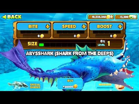 Crazy New Abysshark Unlocked Hungry Shark Evolution Youtube