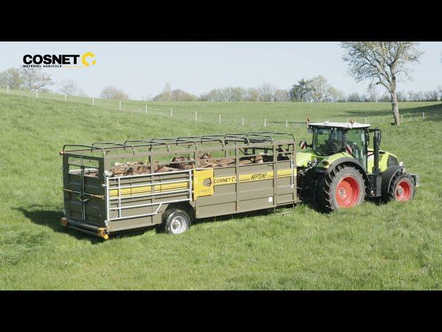 Cosnet agricole - Bétaillère pose au sol NEPTUNE 7.20