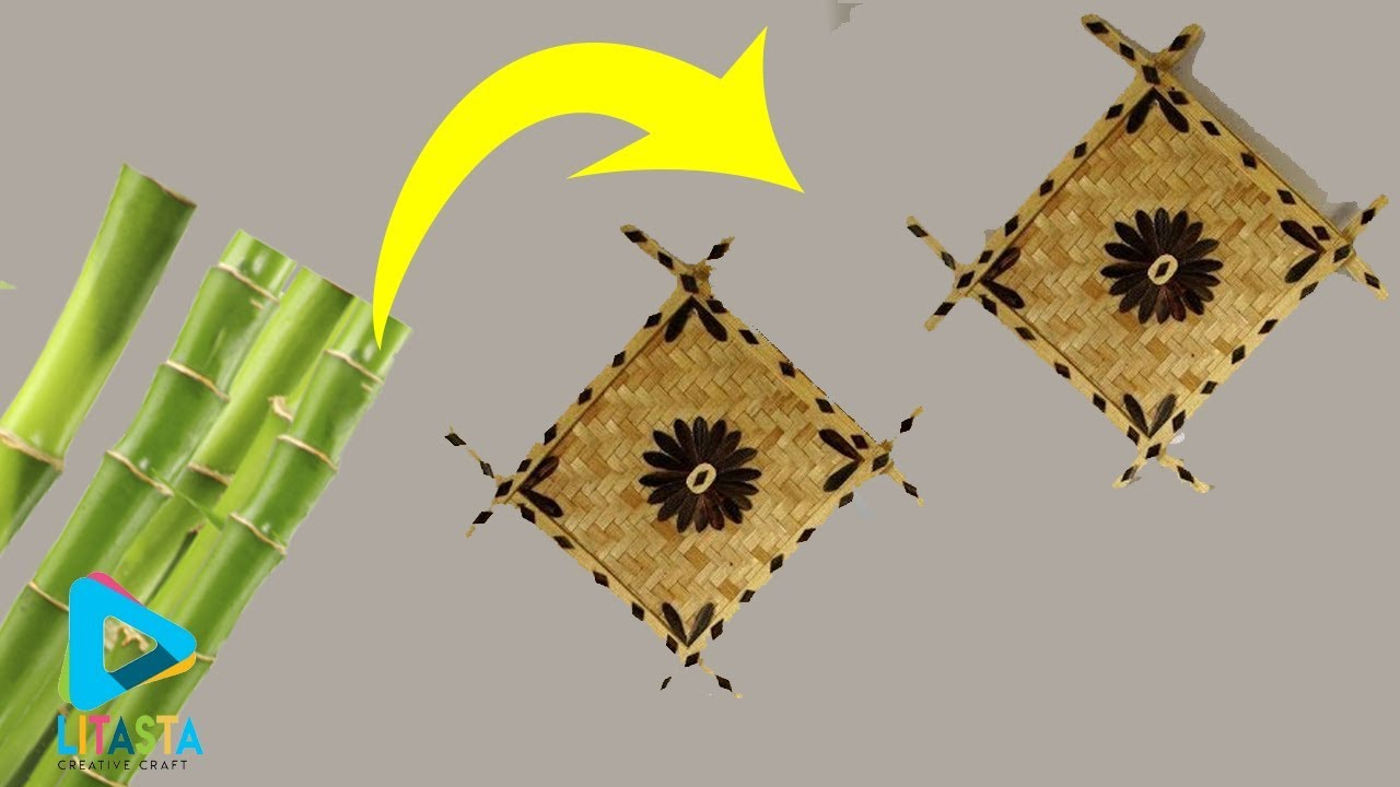 Ide Kreatif Hiasan Dinding Dengan Anyaman Bambu Diy Room Decor Youtube Hiasan dinding dari bambu