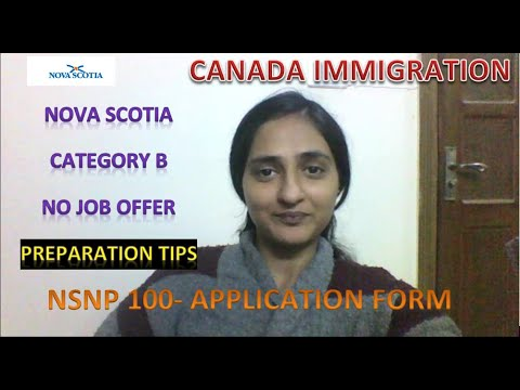 HOW To APPLY To NOVA SCOTIA WITHOUT JOB OFFER - CANADA IMMIGRATION - Category B