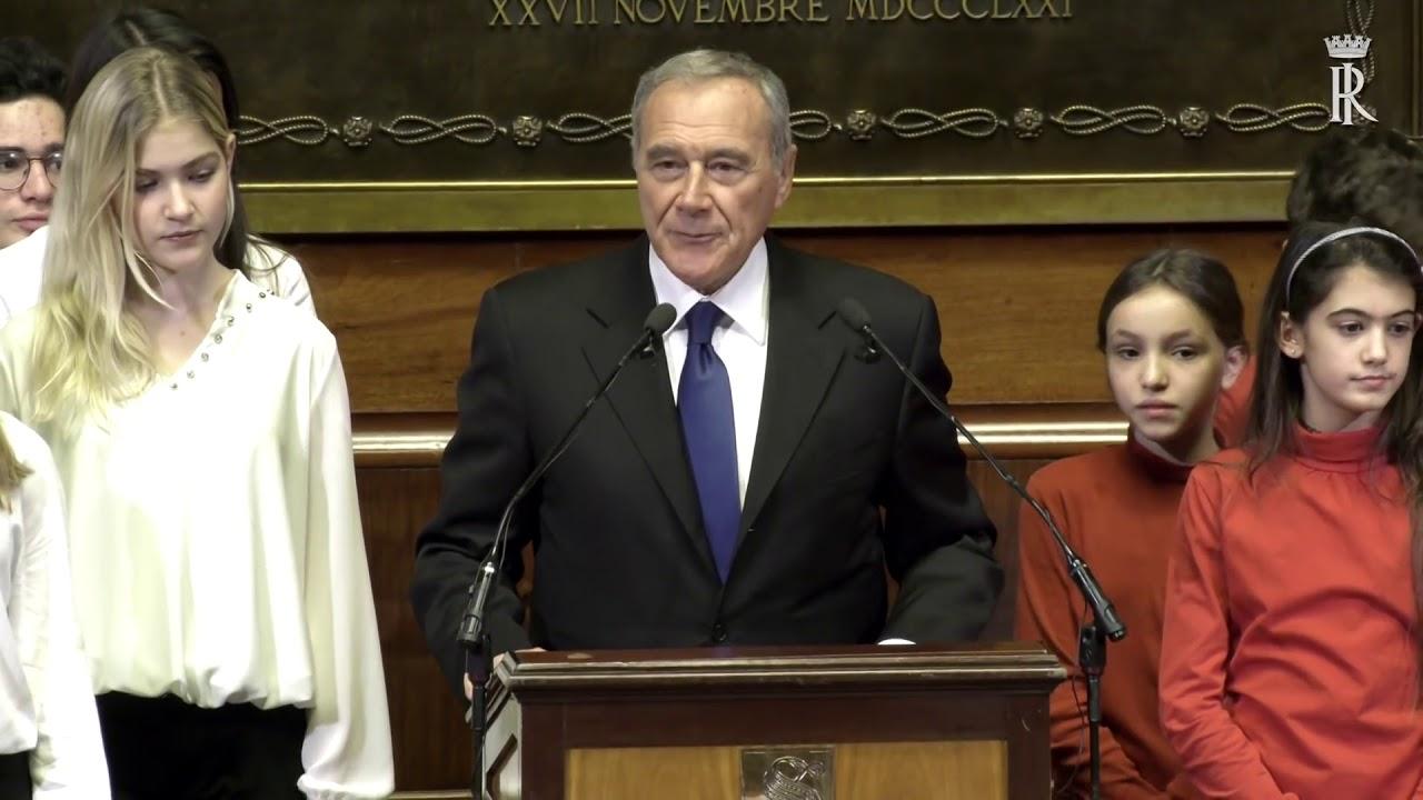 il presidente mattarella al concerto di natale al senato