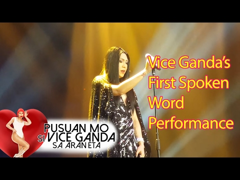 Vice Ganda Becomes Emotional During Spoken Word Performance