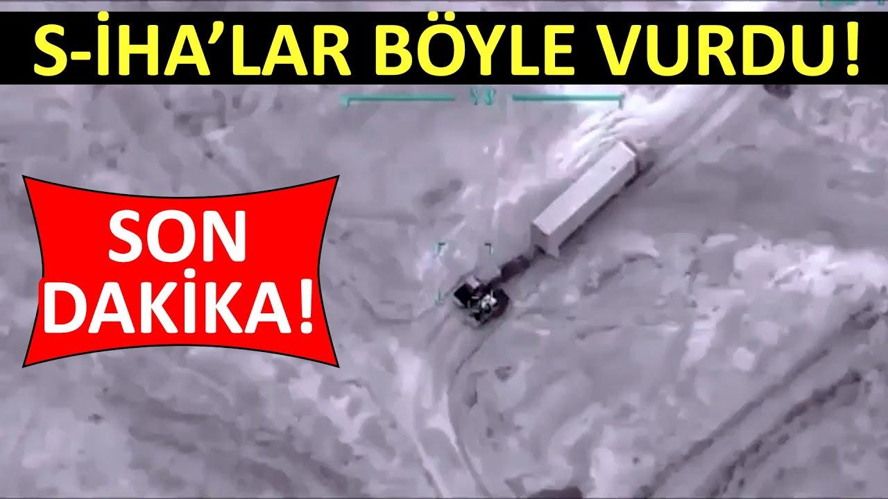 Hafter'e ağır darbe! Türk S-İHA ları böyle vurdu! #sondakika