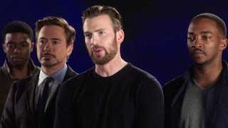 CAPTAIN AMERICA: CIVIL WAR Spot - Cast Hilariously Singing Together (2016) Marvel Movie HD