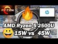 AMD Ryzen 5 2500U 🔥 with and without thermal restriction in Playerunknown's Battlegrounds