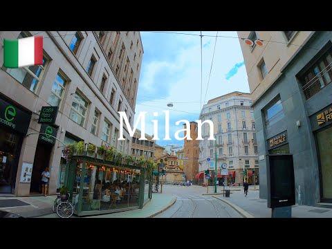 🇮🇹 Driving Milan streets, Italy in 4K. Duomo Milano, Milan downtown, Old Town.
