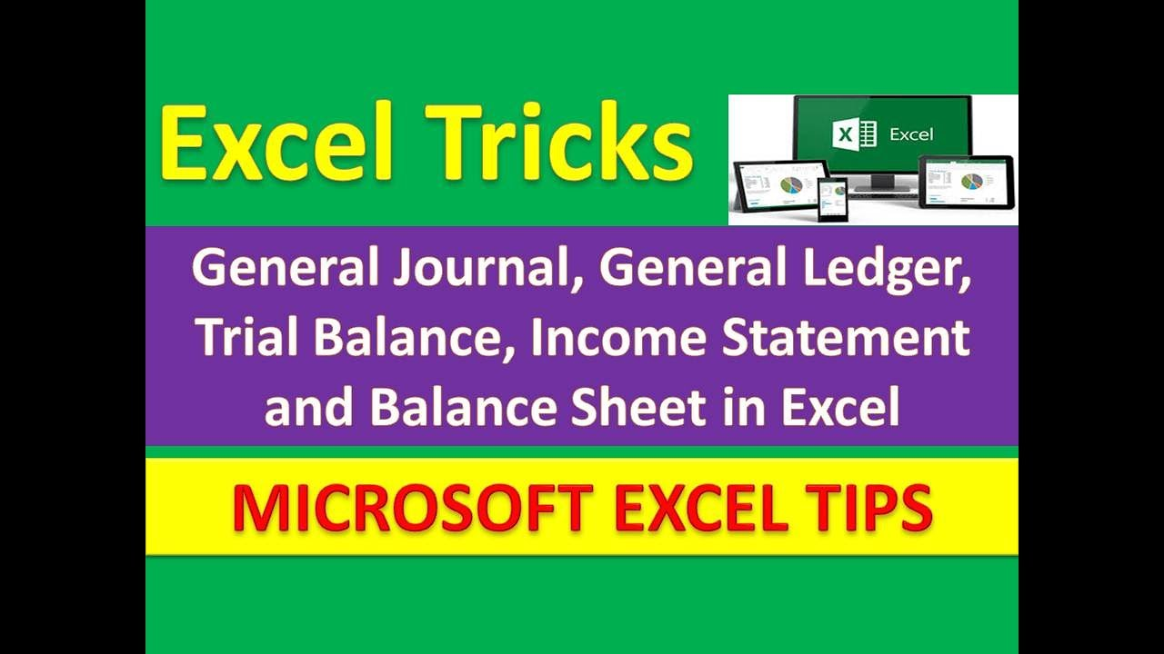 general journal  general ledger  trial balance  income