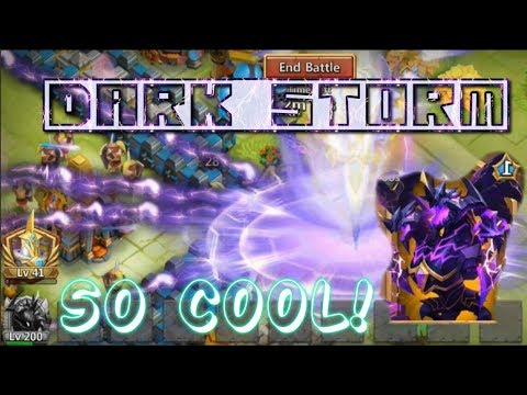 COOL! Demogorgon DARK STORM SKIN GAMEPLAY - Castle Clash