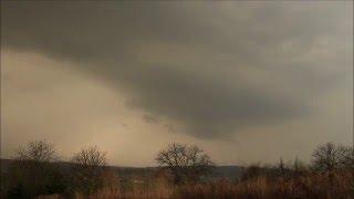 supercela/supercell thunderstorm, Giraltovce 6.4.2016