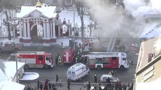 Страшный пожар на ул  Пятницкая 29 января 2014 года