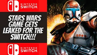 Did Star Wars Republic Commando Get Leaked For The Nintendo Switch???
