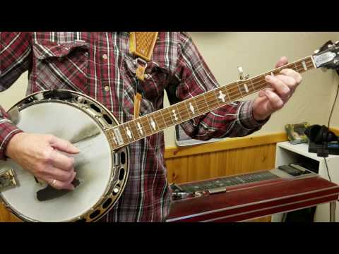 Learning Banjo D Scale with Rolls