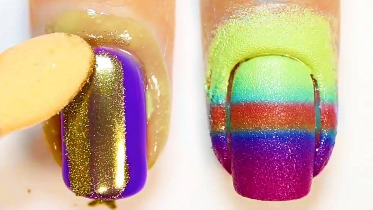 5 Beautiful Nail Art Designs Most Creative Nail Art Ideas So Girly Youtube