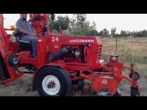 Jacobsen HR15 wide area flail mower, Perkins diesel