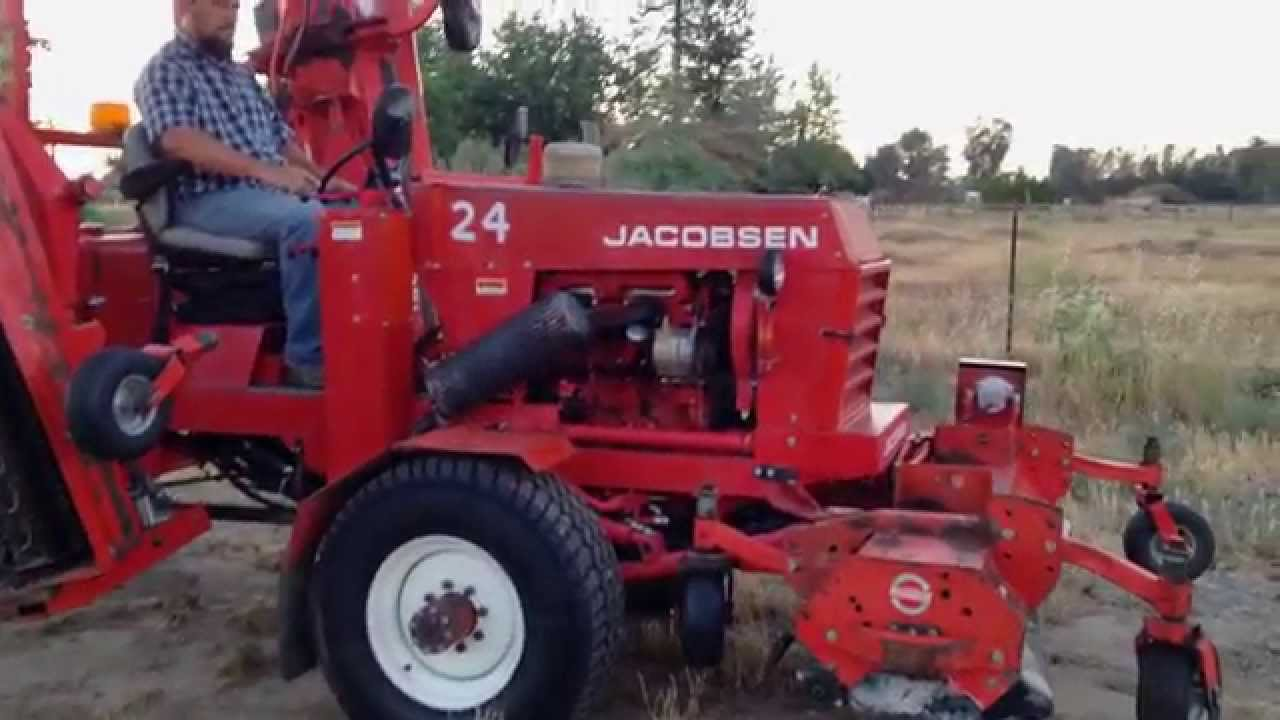 Jacobsen Hr15 Wide Area Flail Mower Perkins Diesel Youtube