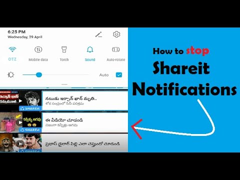How to stop Shareit Video Notifications