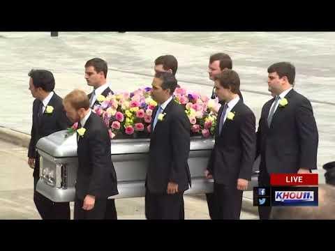 Watch: Barbara Bush's casket is placed in hearse outside St. Martin's