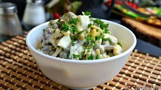 Грибной салат с сыром 'Искушение'