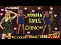 Cool Russian girls in a short dress dance on stage for soldiers!