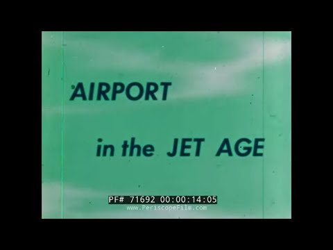"""1962 LOS ANGELES INTERNATIONAL AIRPORT LAX  """"AIRPORT IN THE JET AGE"""" 71692"""