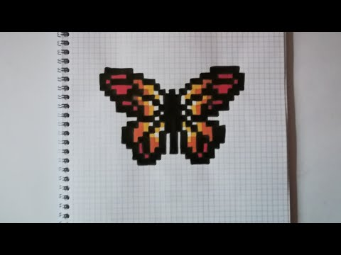 Pixel Art Papillon Youtube
