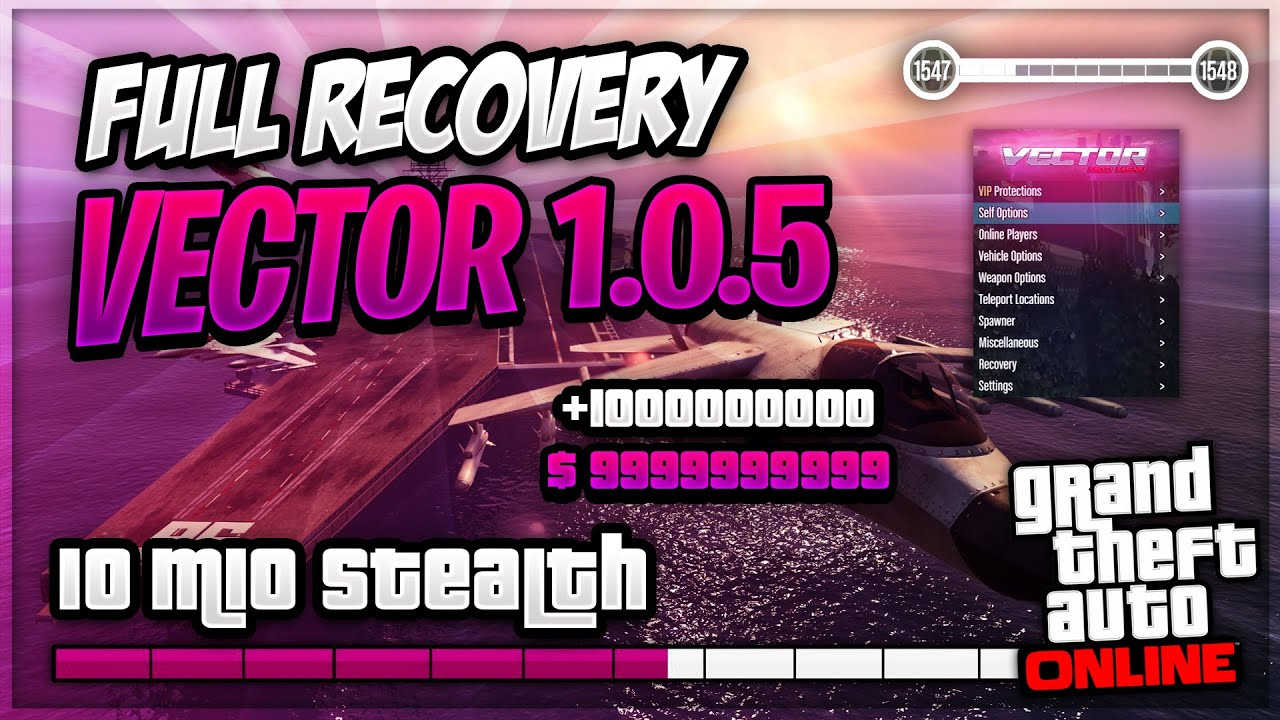 GTA V Online PC 1.50   Vector 1.0.5 NEW FREE MOD MENU   Full Recovery   *UNDETECTED*   + Tutorial