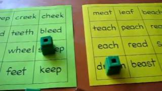Preschool - Reading, Phonics, Spelling: Bingo game with the