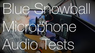 Blue Snowball USB Mic Testing (EQ, Compression & Pop Filter) | IMNC