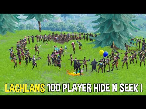 Playing Lachlans 100 Player Hide N Seek! w/ Lachlan