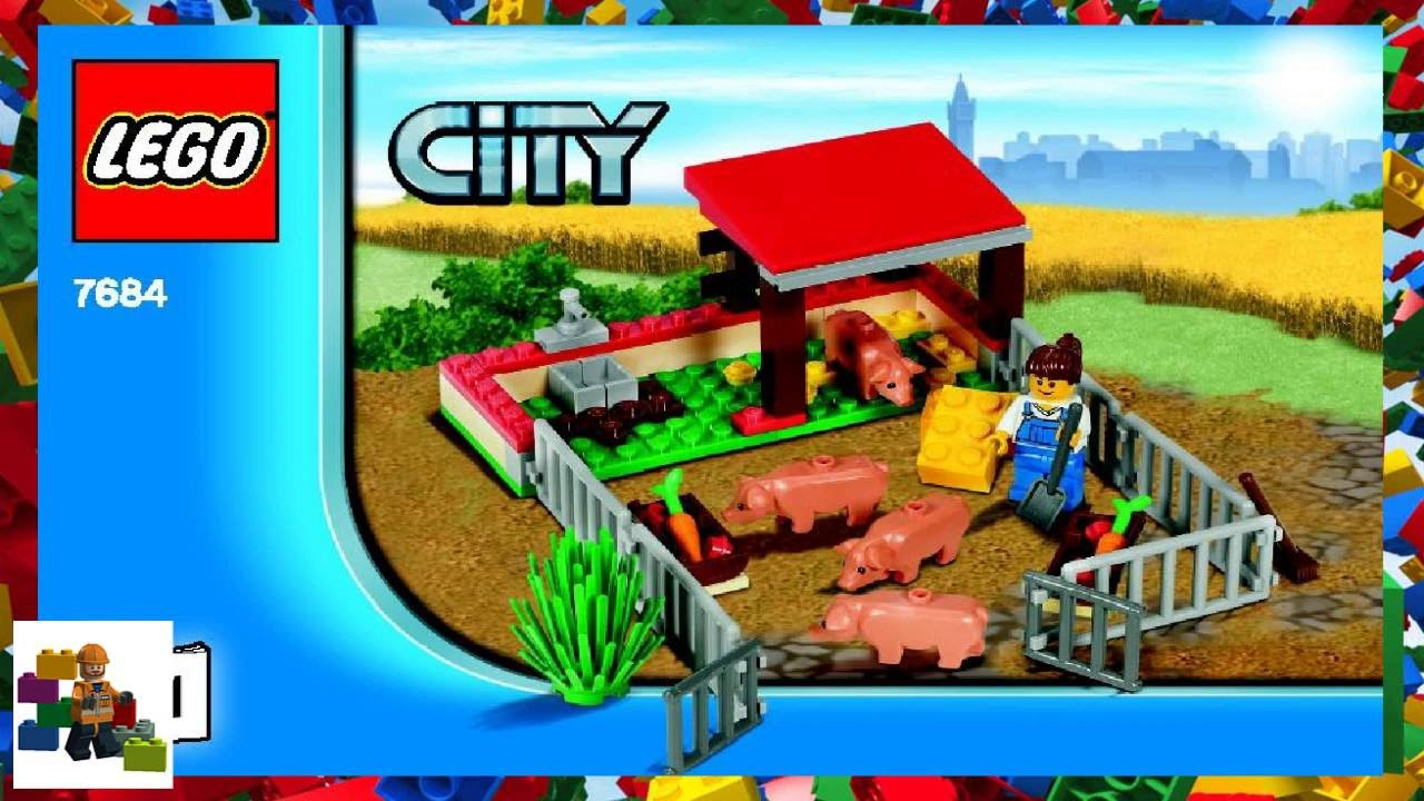 Lego Instructions City Farm 7684 Pig Farm Tractor Book 1