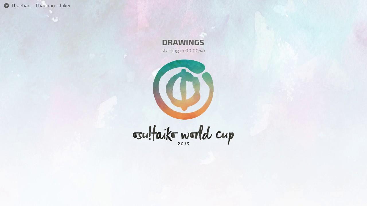 osu!taiko World Cup 2017 - Drawings