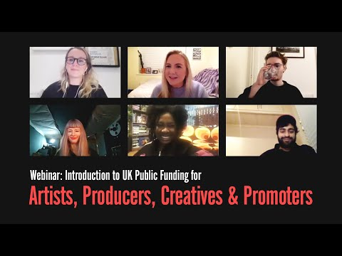 RA Webinar: Introduction to UK Public Funding for Artists, Producers, Creatives & Promoters