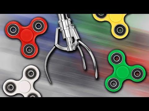 FIDGET SPINNER CLAW MACHINE!!