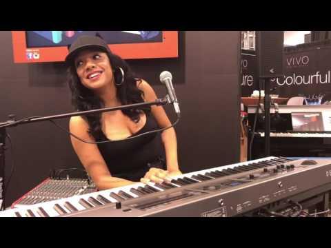 Sheléa playing DEXIBELL VIVO S7 digital piano at NAMM 2017