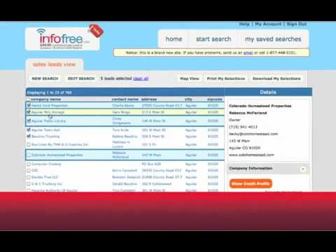 Explore for business leads and homeowner sales leads