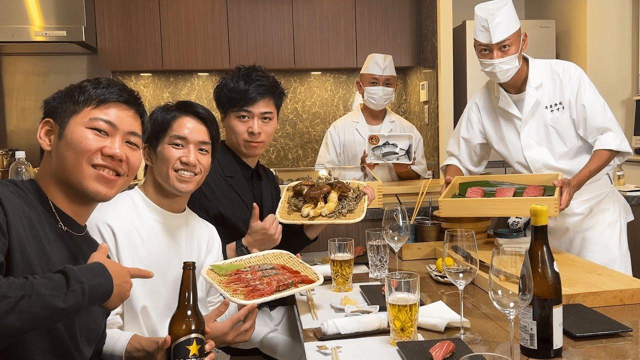 100万人記念にガチな寿司職人を呼んでお祝いしたら酔っ払いすぎました