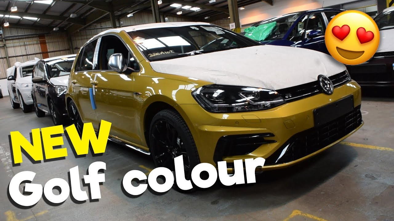 New Colour Golf R Turmeric Yellow 2018 Youtube