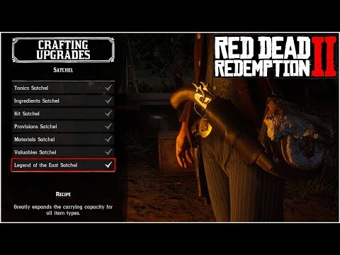 THE ULTIMATE GUIDE FOR CRAFTING ALL SATCHEL UPGRADES!! – Red Dead Redemption 2 Tips & Tricks