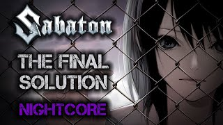 [Female Cover] SABATON – The Final Solution [NIGHTCORE Version by ANAHATA + Lyrics]