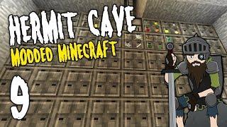 Hermit Cave: 9 | STORAGE SYSTEM! | Modded Minecraft